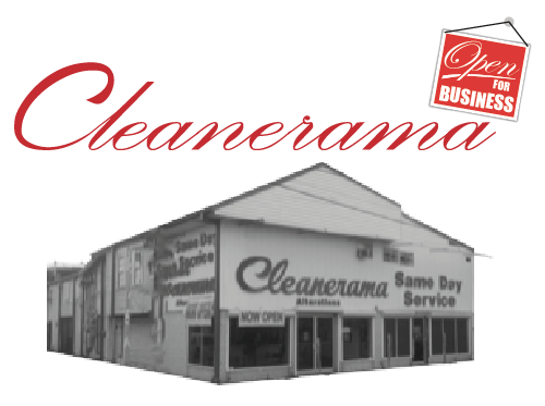 Black and White Photo of Cleanerama